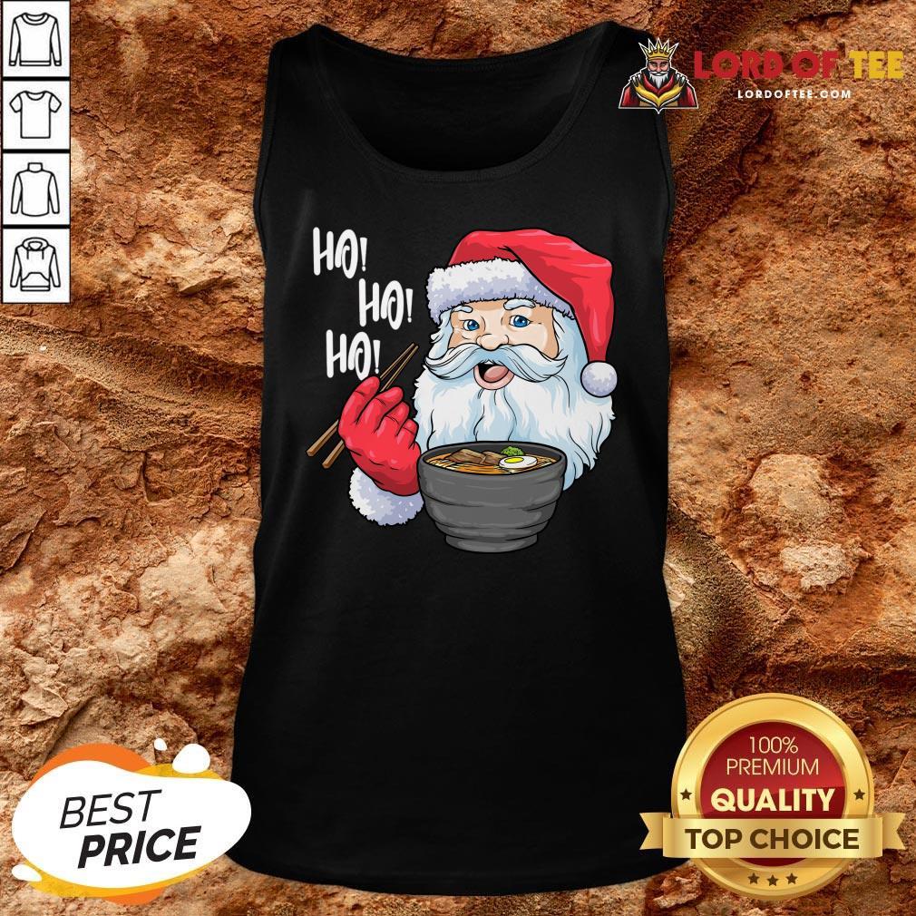 Premium Santa Ramen Noodles Shirt Christmas Japanese Noodles Tank Top