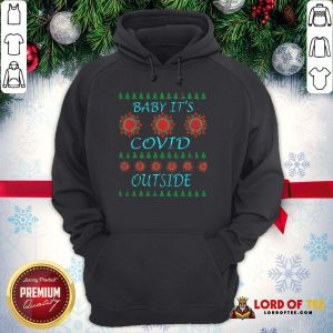 Pretty Baby It's Covid Outside 2020 Ugly Christmas Hoodie