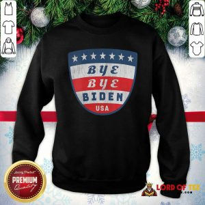 Bye Bye Biden USA Flag Shield SweatShirt