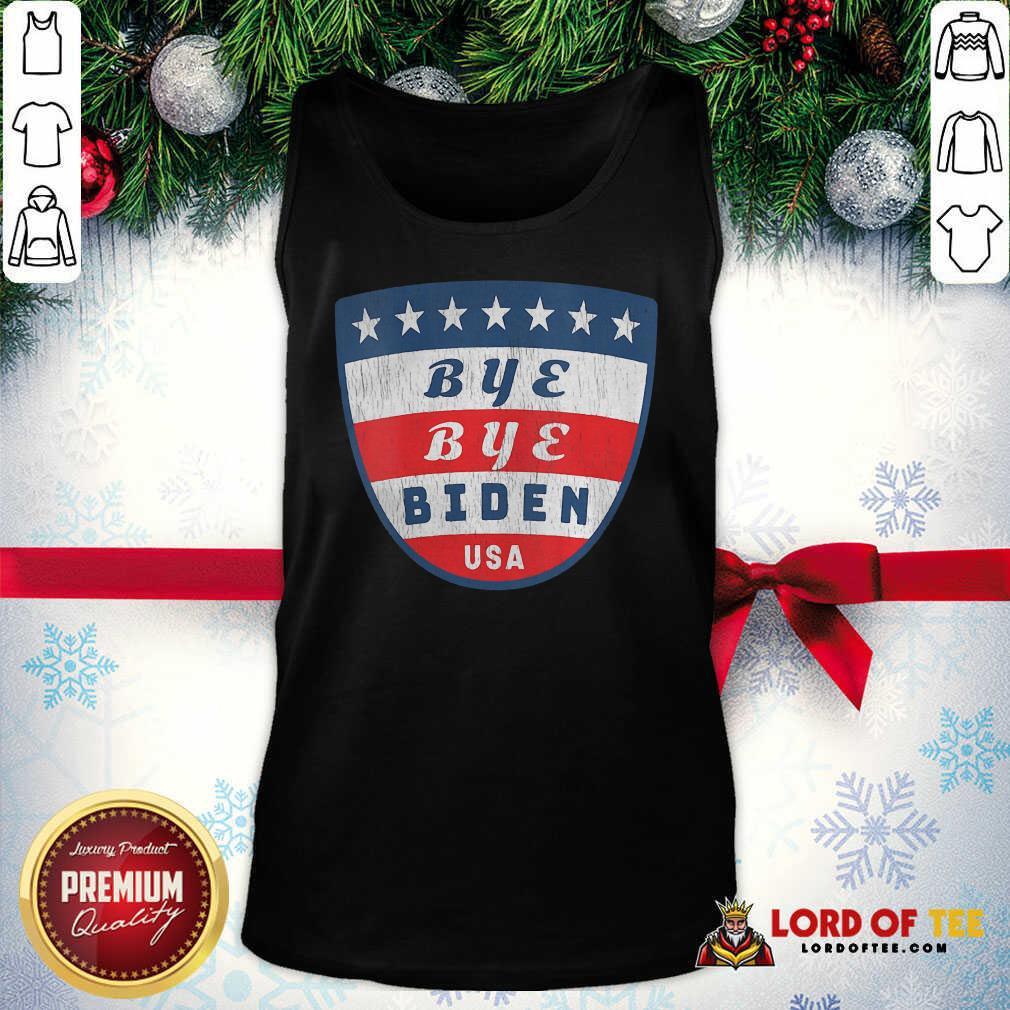 Bye Bye Biden USA Flag Shield Tank Top