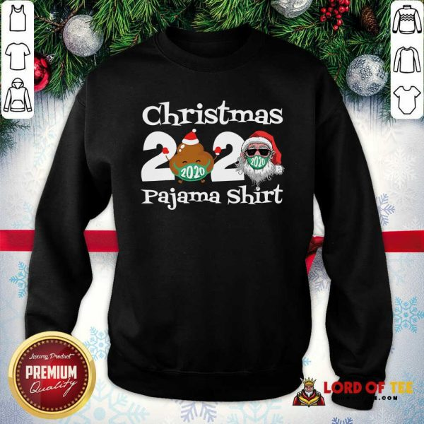 Christmas 2020 Poop Face Mask Pajama SweatShirt