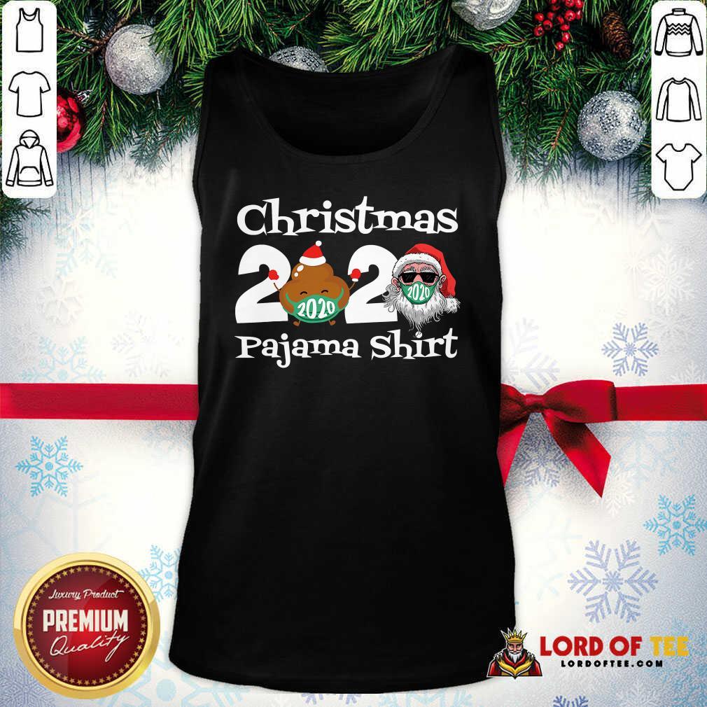 Christmas 2020 Poop Face Mask Pajama Tank Top