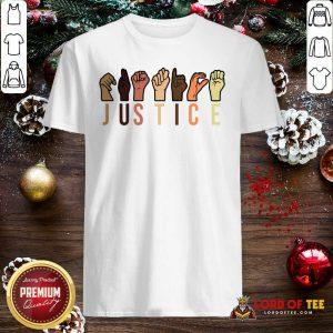 Pretty Hands Sign Language Justice Reusable Shirt