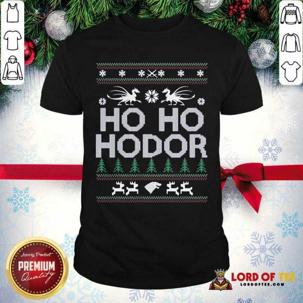 Ho Ho Hodor Toothless Merry Christmas Shirt - Design By Lordoftee.com