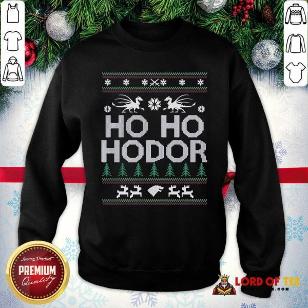 Ho Ho Hodor Toothless Merry Christmas SweatShirt - Design By Lordoftee.com