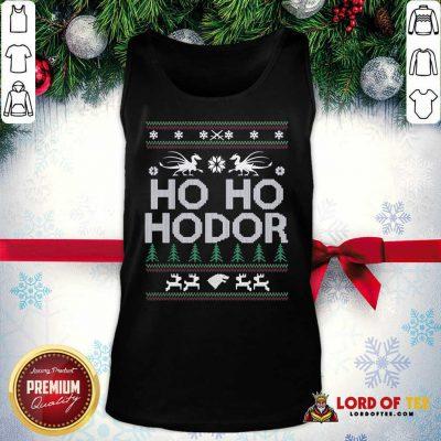 Ho Ho Hodor Toothless Merry Christmas Tank Top - Design By Lordoftee.com