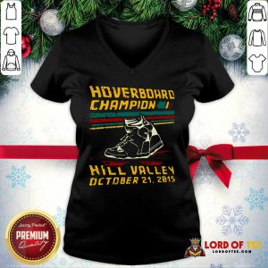 Hoverboard Champion Hill Valley October 21 2015 V-neck - Design By Lordoftee.com