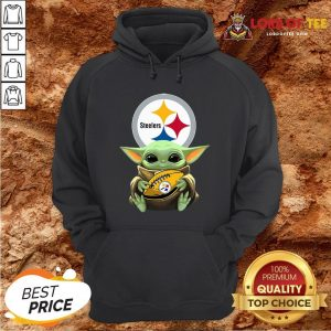 Pretty Star Wars Baby Yoda Hug Pittsburgh Steelers Hoodie