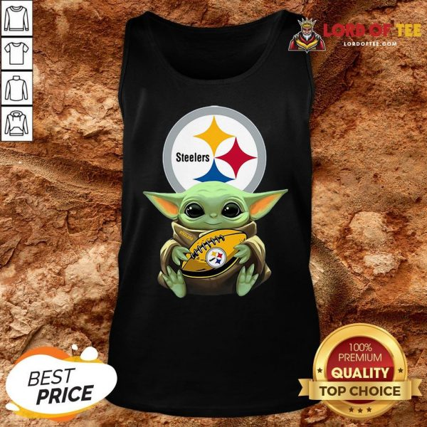 Pretty Star Wars Baby Yoda Hug Pittsburgh Steelers Tank Top