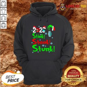 Pretty Stink Stank Stunk Funny Grinch Holiday Christmas Hoodie