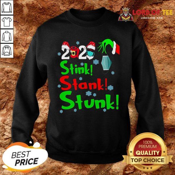Pretty Stink Stank Stunk Funny Grinch Holiday Christmas SweatShirt