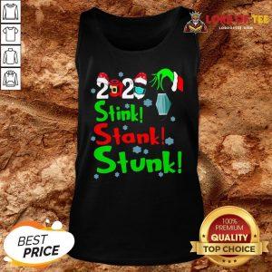 Pretty Stink Stank Stunk Funny Grinch Holiday Christmas Tank Top