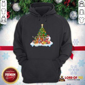 Pretty Stitch Santa Claus Elf Reindeer Christmas Tree Hoodie