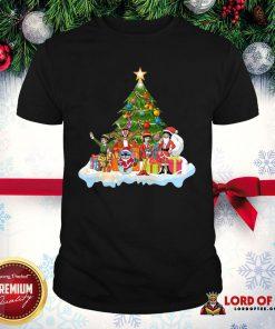 Pretty Stitch Santa Claus Elf Reindeer Christmas Tree Shirt