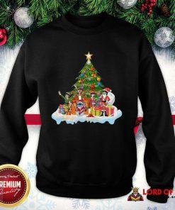 Pretty Stitch Santa Claus Elf Reindeer Christmas Tree SweatShirt