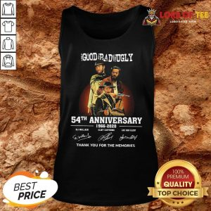 Pretty The Good The Bad And The Ugly 54th Anniversary 1966-2020 Thank You For The Memories Signatures Tank Top