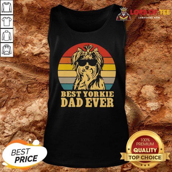 Top Best Yorkie Dad Ever Vintage Tank Top