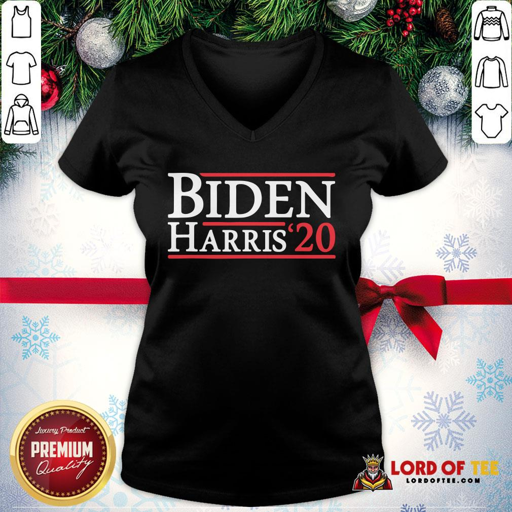 Top Biden Harris 2020 TShirt Democrat Elections President Vote V-neck