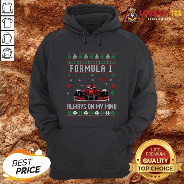 Top Formula 1 Always On My Mind Ugly Christmas Hoodie