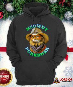 Meowdy Purrdner Cat Funny Hoodie - Design By Lordoftee.com