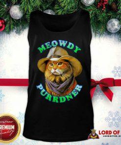 Meowdy Purrdner Cat Funny Tank Top - Design By Lordoftee.com