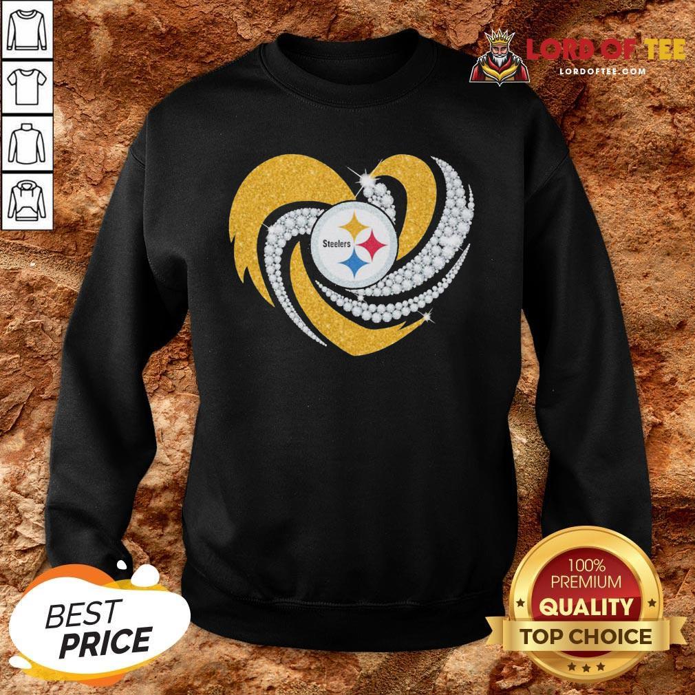 Top Pittsburgh Steelers Heart Diamond SweatShirt