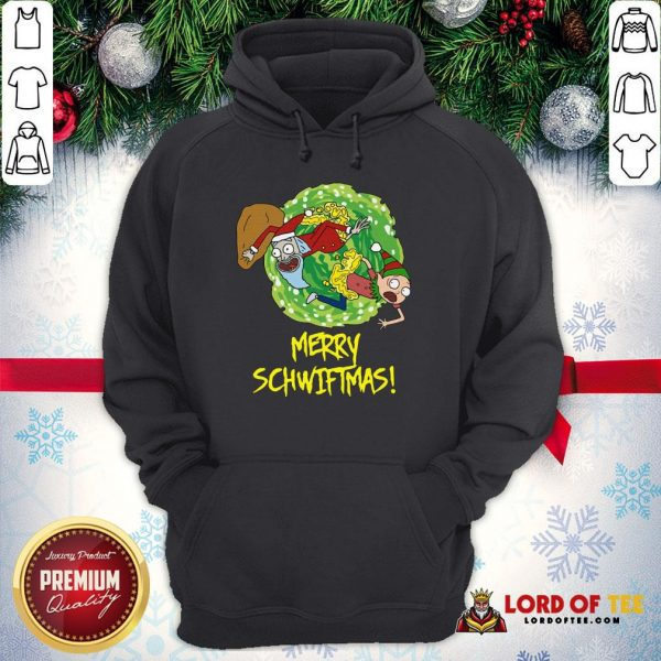 Top Rick And Morty Merry Schwiftmas Ugly Christmas Hoodie