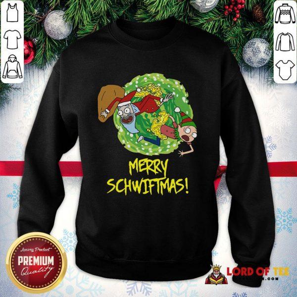 Top Rick And Morty Merry Schwiftmas Ugly Christmas SweatShirt