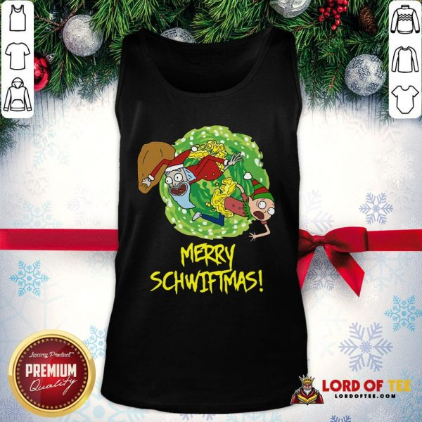 Top Rick And Morty Merry Schwiftmas Ugly Christmas Tank Top