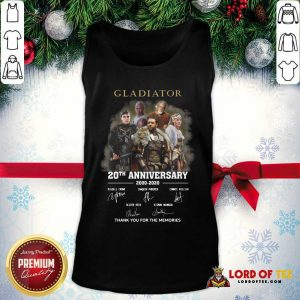 Gladiator 20th Anniversary 2000 2020 Thank You For The Memories Signatures Tank Top - Desisn By Lordoftee.com