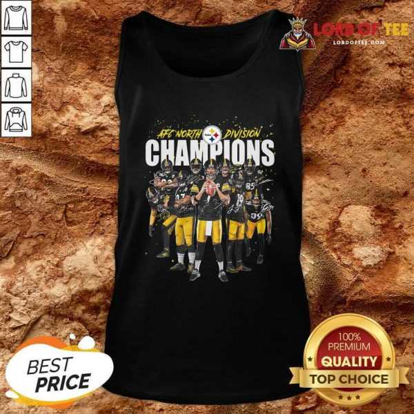 Pittsburgh Steelers Team Football Afc North Division Champions Signatures Tank Top - Desisn By Lordoftee.com
