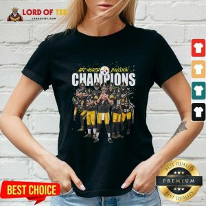 Pittsburgh Steelers Team Football Afc North Division Champions Signatures V-neck - Desisn By Lordoftee.com