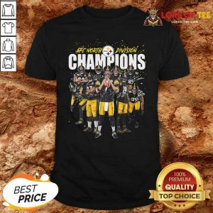 Pittsburgh Steelers Team Football Afc North Division Champions Signatures Shirt - Desisn By Lordoftee.com