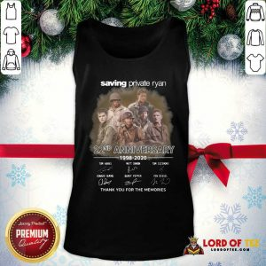 Saving Private Ryan 22nd Anniversary 1988 2020 Thank You For The Memories Signatures Tank Top - Desisn By Lordoftee.com