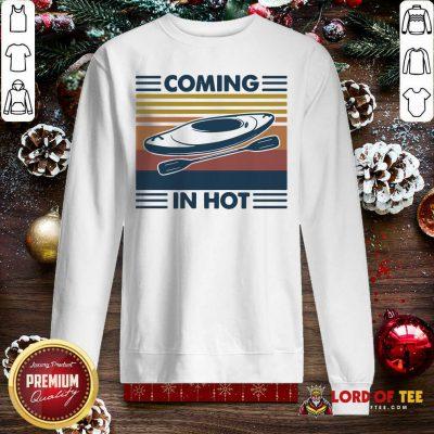 Kayak Coming In Hot Vintage Sweatshirt-Design By Lordoftee.com