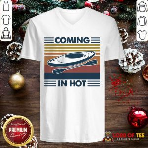 Kayak Coming In Hot Vintage V-neck-Design By Lordoftee.com