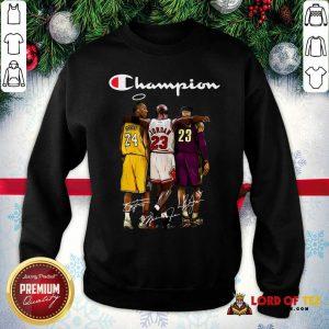Kobe Bryant Michael Jordan Lebron James Champion Signatures Sweatshirt-Design By Lordoftee.com