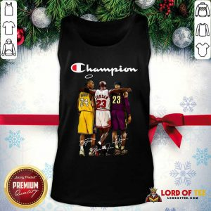 Kobe Bryant Michael Jordan Lebron James Champion Signatures Tank Top-Design By Lordoftee.com