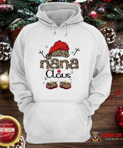 Leopard Nana Claus Ugly Christmas Hoodie-Design By Lordoftee.com