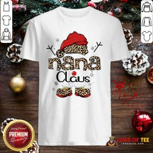 Leopard Nana Claus Ugly Christmas Shirt-Design By Lordoftee.com