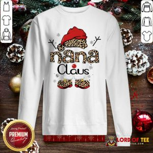 Leopard Nana Claus Ugly Christmas Sweatshirt-Design By Lordoftee.com