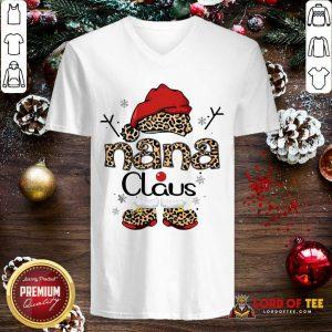 Leopard Nana Claus Ugly Christmas V-neck-Design By Lordoftee.com