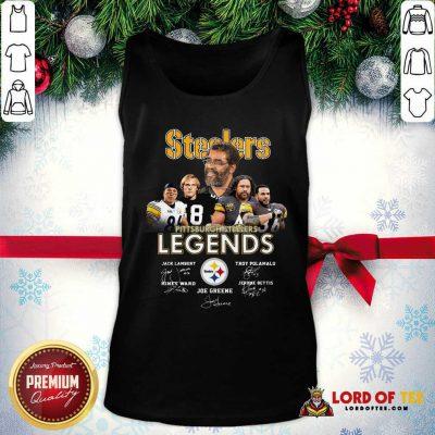 Steelers Pittsburgh Steelers Legends Signatures  Tank Top-Design By Lordoftee.com