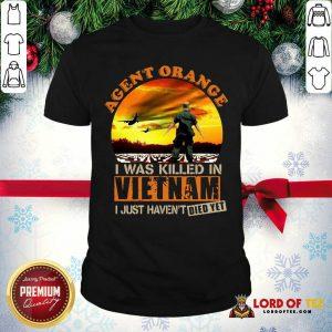 Agent Orange I Was Killed In Vietnam Veteran I Just Haven't Died Yet Shirt - Desisn By Lordoftee.com