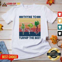 Gardening Thyme To Turnip The Beet Vintage Retro V-neck - Desisn By Lordoftee.com