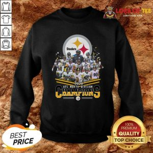 Pittsburgh Steelers 2020 Afc North Division Signatures Sweatshirt - Desisn By Lordoftee.com