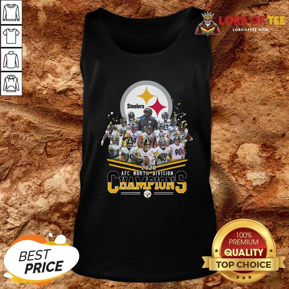 Pittsburgh Steelers 2020 Afc North Division Signatures Tank Top - Desisn By Lordoftee.com