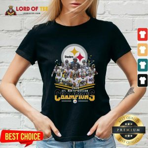 Pittsburgh Steelers 2020 Afc North Division Signatures V-neck - Desisn By Lordoftee.com