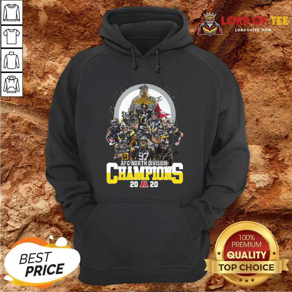 Pittsburgh Steelers Afc North Division Champions 2020 Signatures Hoodie - Desisn By Lordoftee.com