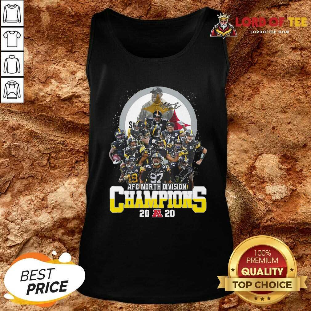 Pittsburgh Steelers Afc North Division Champions 2020 Signatures Tank Top - Desisn By Lordoftee.com